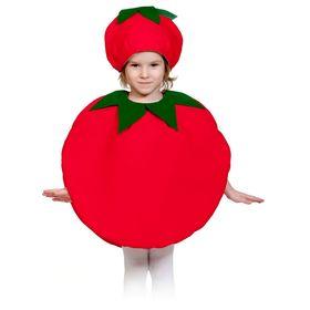 """Карнавальный костюм """"Помидорка"""", текстиль, накидка и маска-шапочка, рост 98-128 см"""
