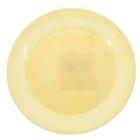 Тарелка d=20 см круглая, цвет лимонный