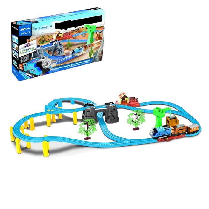 Железная дорога «Путешествие», работает от батареек, свет и звук
