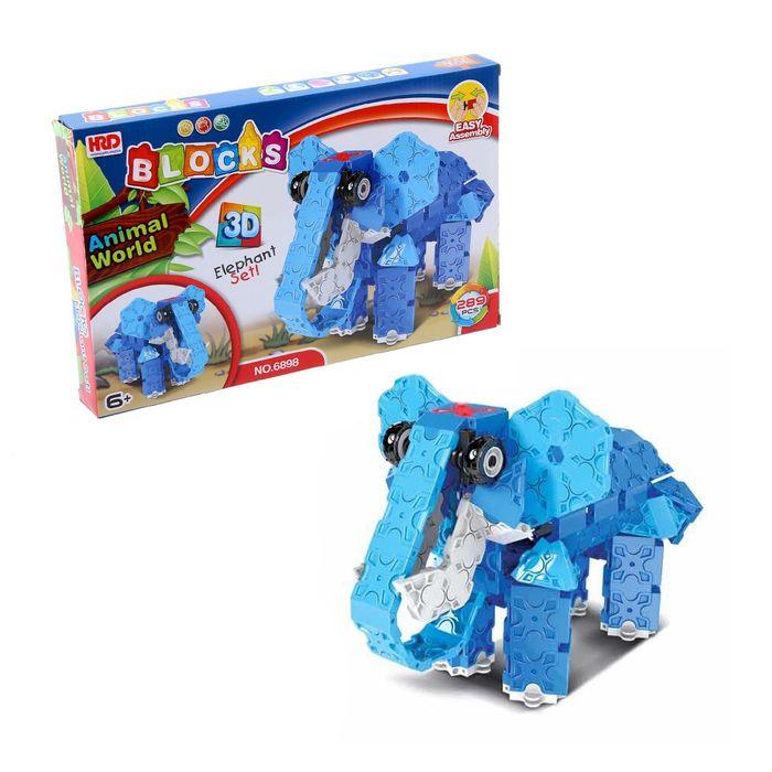Конструктор 3D «Слон», 289 деталей