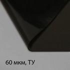 Плёнка полиэтиленовая, техническая, толщина 60 мкм, 3 ? 10 м, рукав, чёрная, 2 сорт, Эконом 50 %
