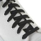 Шнурки для обуви плоские, 10мм, 70см, цвет чёрный
