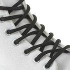 Шнурки для обуви круглые, без наполнителя, d=4мм, 110см, цвет чёрный