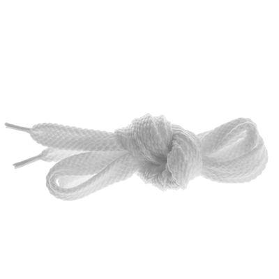 Шнурки для обуви плоские, d=10мм, 90см, цвет белый
