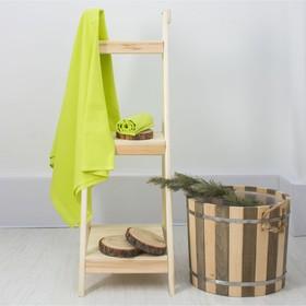 Полотенце вафельное банное «Экономь и Я», 80х150 см, цвет салатовый