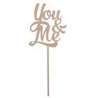"""Топпер """"You & Me"""" из фанеры, 25x9 см"""