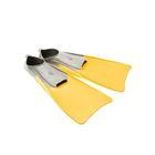 Ласты POOL COLOUR LONG, размер 30-33, цвет жёлтый