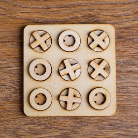 Игра 'Крестик-Нолик' (маленький) 10х10см Ош