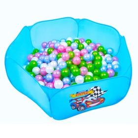 Шарики для сухого бассейна «Перламутровые», диаметр шара 7,5 см, набор 50 штук, цвет розовый, голубой, белый, зелёный Ош