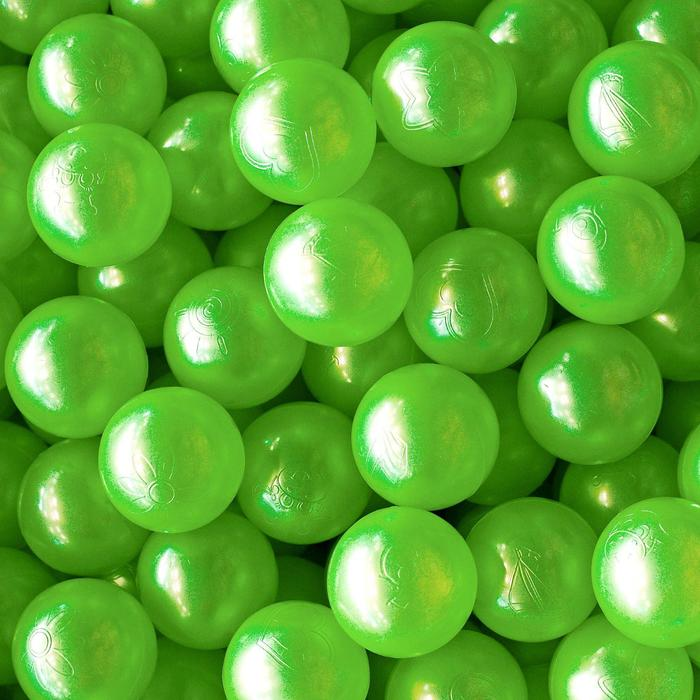 Шарики для сухого бассейна «Перламутровые», диаметр шара 7,5 см, набор 100 штук, цвет розовый, голубой, белый, зелёный