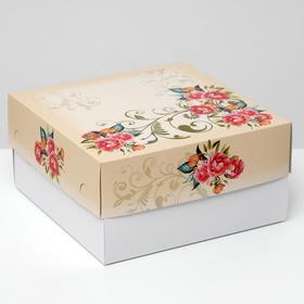 """Кондитерская упаковка """"Красные розы"""" , 2 кг, 29,5 х 29,5 х 15 см"""