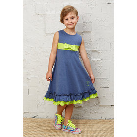 Платье для девочки, рост 92 см, цвет синий меланж AZ-863_М