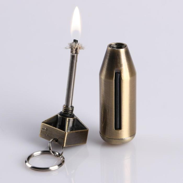 Зажигалка вечная спичка «Снаряд», 2х6.5 см