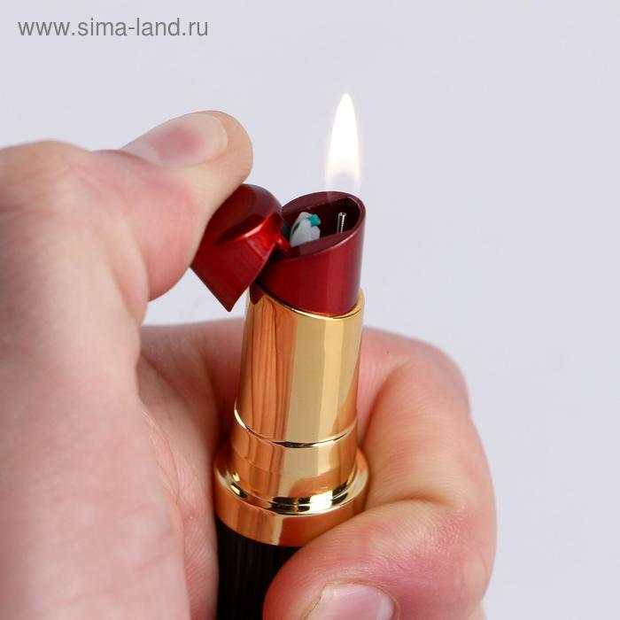 """Зажигалка газовая """"Помада"""", женская, микс, 8.5х1.7 см"""