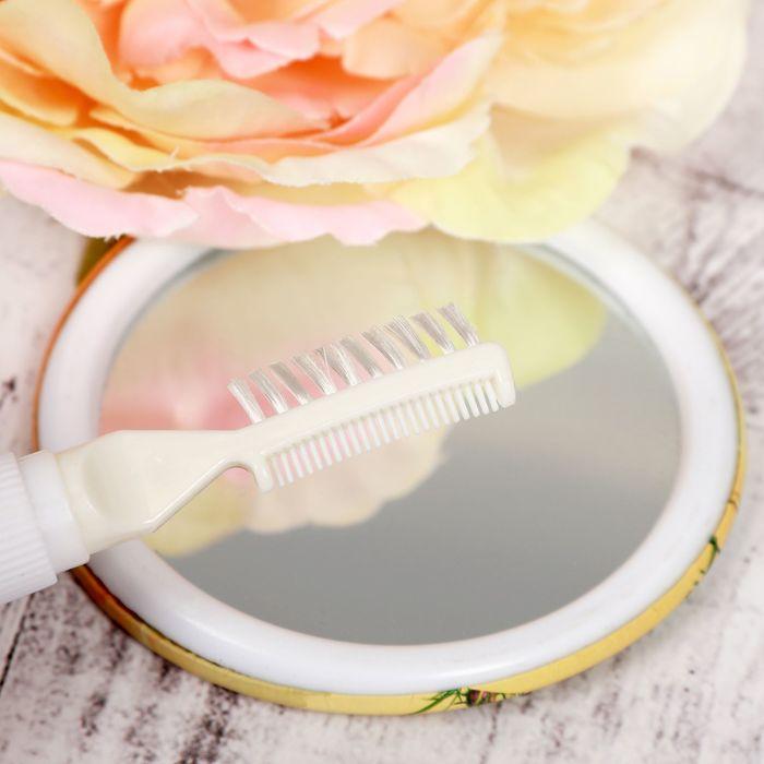 Гель-блестки для волос с щеточкой, 18 гр, цвет перламутр