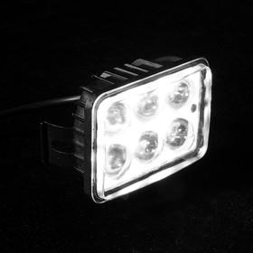 Противотуманная фара, 12 В, 6 LED, IP67, 6000 К, направленный свет