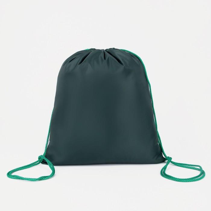 Мешок для обуви, отдел на шнурке, цвет зелёный