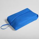 Сумка для обуви на молнии, 1 отдел, цвет синий