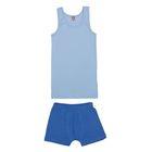 Комплект для мальчика (майка, трусы-боксеры), рост 146 см, цвет голубой