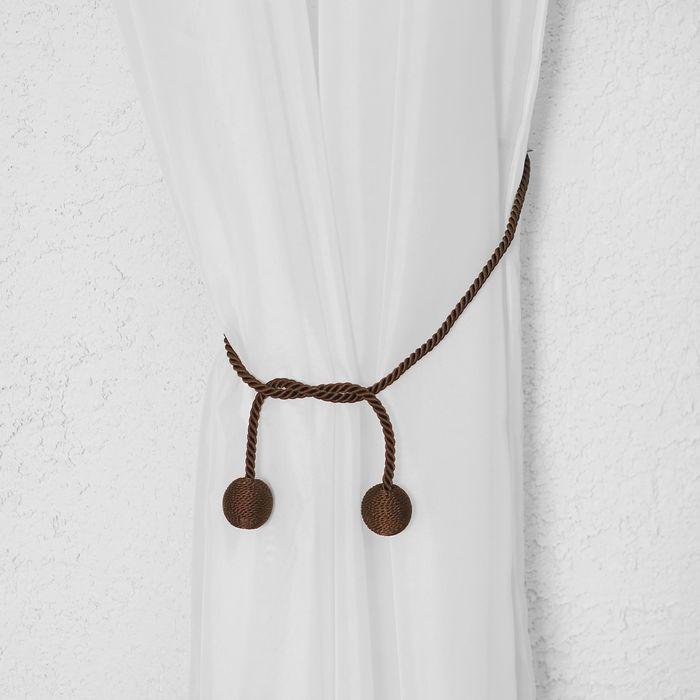 Кисть для штор «Бомбей», 84(±1) см, цвет коричневый