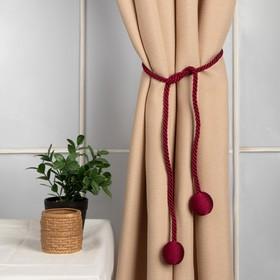 Brush for curtains Bombay, L-84(±1)cm 140, color Burgundy
