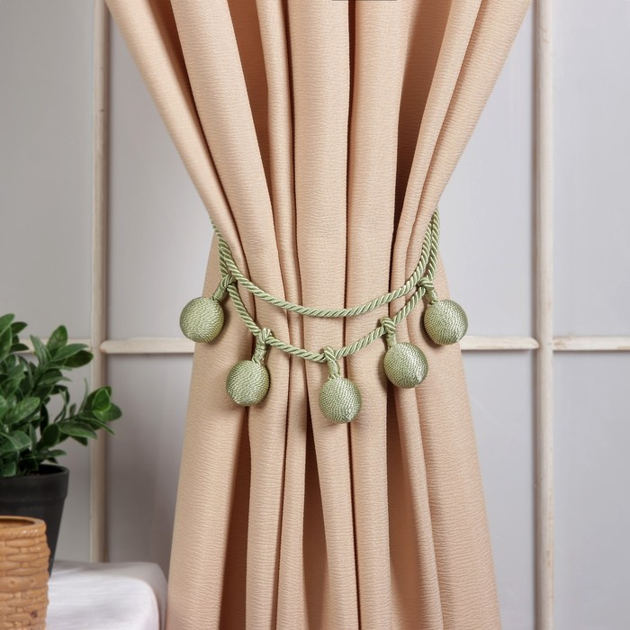 Кисть для штор «Шарлин», 75(±1) см, цвет зелёный