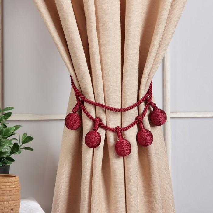 Кисть для штор «Шарлин», 75 ± 1 см, цвет бордовый