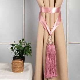 "Brush for curtains ""Kamila"", L-60(±1)cm, colour pink"