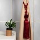 """Кисть для штор """"Есения"""", L-78(±1)см, 140, цвет бордовый"""