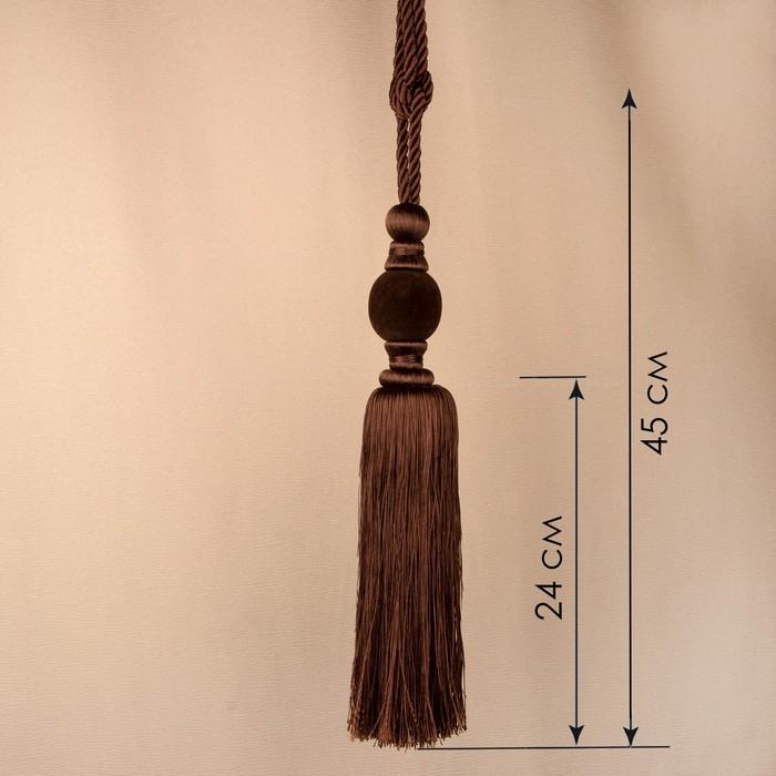 Кисть для штор «Есения», 78 ± 1 см, цвет коричневый