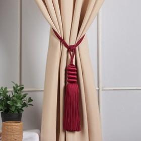 Brush for curtains Nargis, L-70(±1)cm 140, color Burgundy