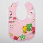 Нагрудник детский непромокаемый «Для малышек», на кнопках, цвета МИКС - фото 1949552