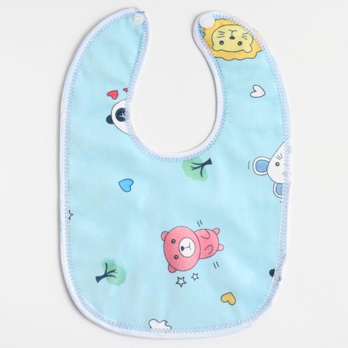 Нагрудник детский непромокаемый «Для мальчишек», на кнопках, цвета МИКС - фото 105449249