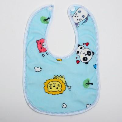 Нагрудник детский непромокаемый «Универсальный», на кнопках, цвета МИКС