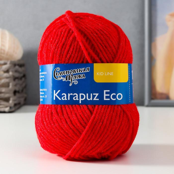 Пряжа Karapuz Eco (КарапузЭко) 90% акрил, 10% капрон 125м/50гр (213 кармин)