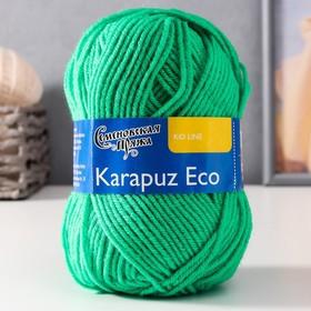 Пряжа Karapuz Eco (КарапузЭко) 90% акрил, 10% капрон 125м/50гр ярк.зел (47)