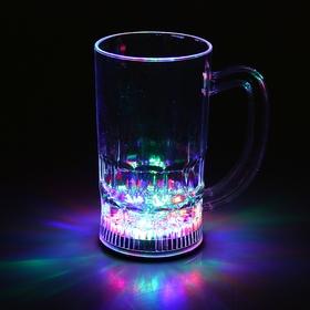 Кружка пивная, с подсветкой, 350 мл - фото 1397583