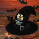 """Шляпа ведьмы """"Чистокровная ведьма"""", цвет черный"""