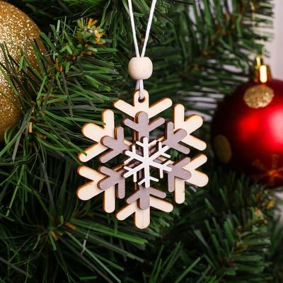 Подвеска новогодняя «Праздничная снежинка»