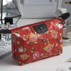 Cosmetic bag road, division zipper, color red