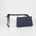 """Cosmetic bags set of 2 1 """"Crown"""", the zipper, color blue"""