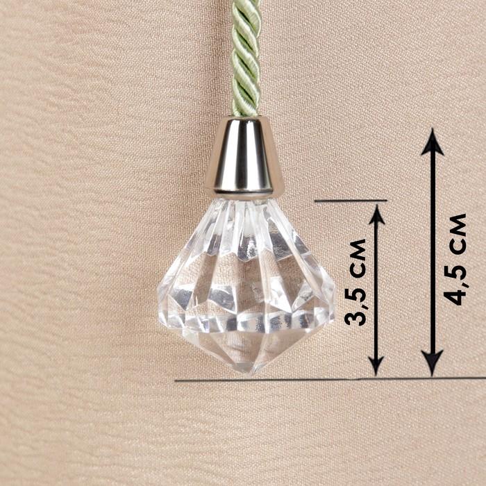Кисть для штор «Кристалл», 59 ± 1 см, цвет зелёный