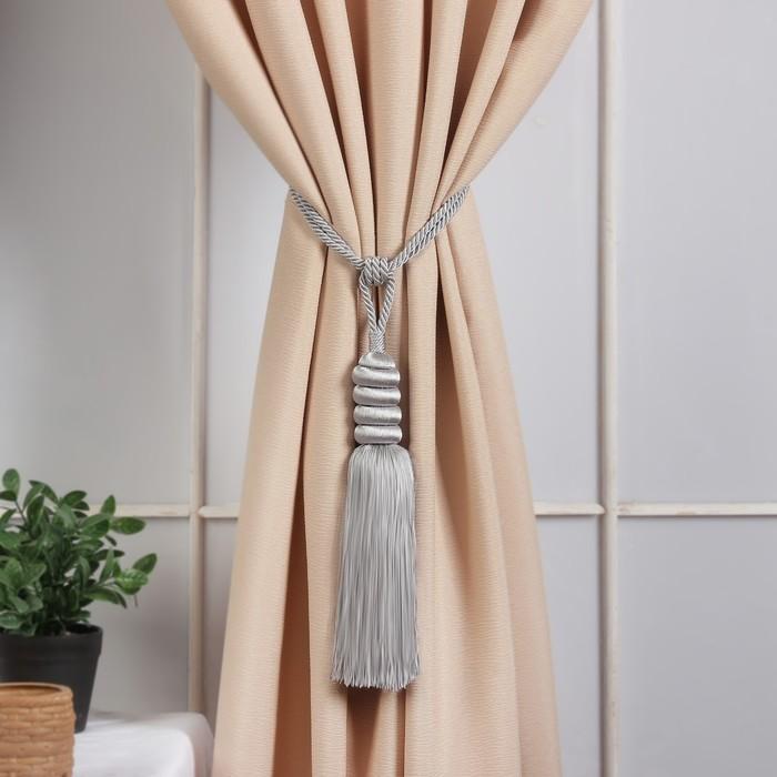 Кисть для штор «Наргиз», 70(±1) см, цвет серебряный