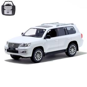 Машина радиоуправляемая Lexus LX570, масштаб 1:14, работает от аккумулятора, световые эффекты, цвет белый