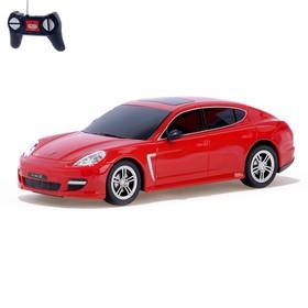 Машина радиоуправляемая Porsche Panamera turbo S, масштаб 1:24, работает от батареек, световые эффекты, цвет красный