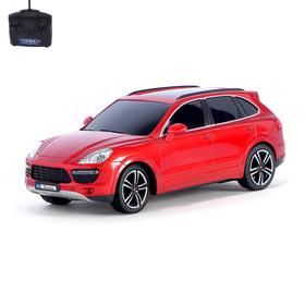 Машина радиоуправляемая Porsche Cayenne Turbo, 1:18, работает от батареек, свет, цвет красный