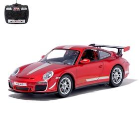 Машина радиоуправляемая Porsche 911 GT3 RS, масштаб 1:14, работает от аккумулятора, свет, МИКС
