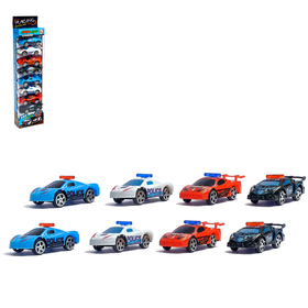 "The car is ""Sports"", set of 8 PCs"
