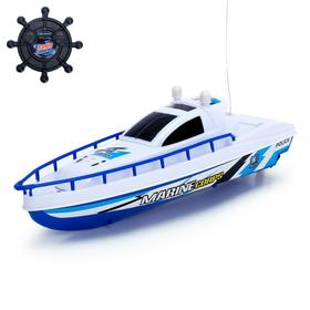 """The radio controlled boat """"Patrol"""", runs on batteries"""