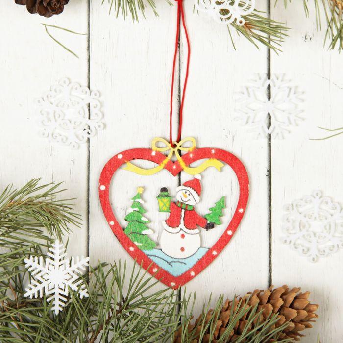 "Подвеска новогодняя ""Дед мороз в сердце"""
